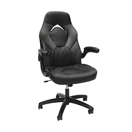 OFM ESS Collection Racing Style Bonded Leather Gaming Chair, in Gray...*