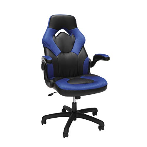 OFM ESS Collection Racing Style Bonded Leather Gaming Chair, in Blue...*
