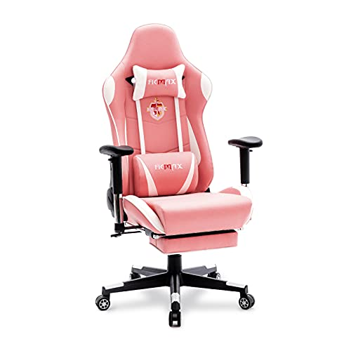 Ficmax Gaming Chair with Footrest, Massage Ergonomic Office Chairs...*